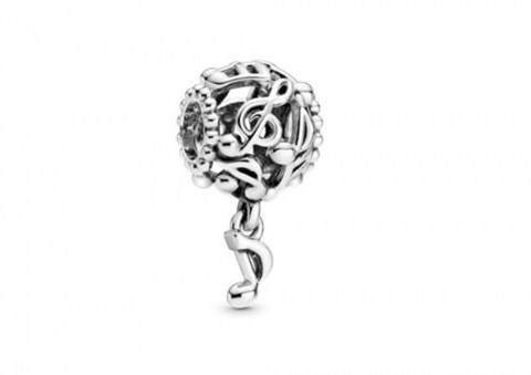 Openwork Music Notes Charm 798779C00 29